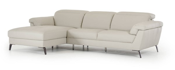 Homeroots Light Grey Eco Leather Sectional OCN-283657
