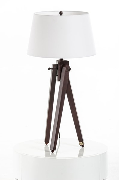 HomeRoots White Fabric Table Lamp OCN-283694