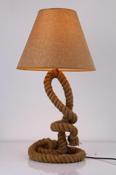 Home Roots Rope Blake Modern Bell Shaded Table Lamp OCN-283702