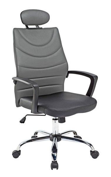 Home Roots Black Leatheret Modern Office Chair OCN-283753