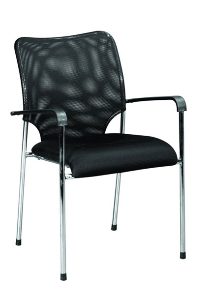 Home Roots Black Fabric Modern Office Chair OCN-283757