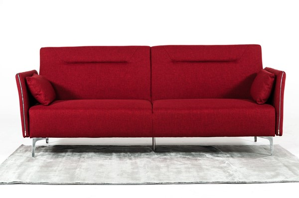 Home Roots Red Modern Fabric Single Sofa OCN-283890