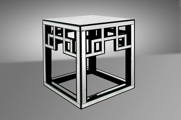 HomeRoots Transitional Mirrored End Table OCN-283910