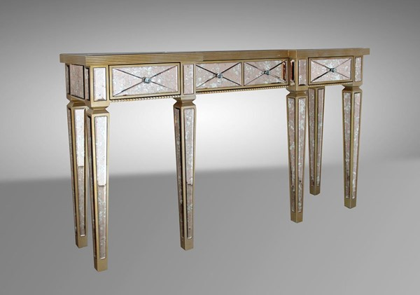 HomeRoots Transitional Mirror Console Table OCN-283911