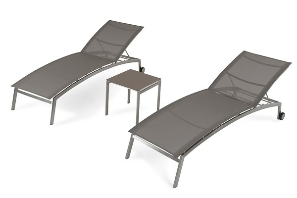 Home Roots Brown Outdoor Lounge Chair Set OCN-283920