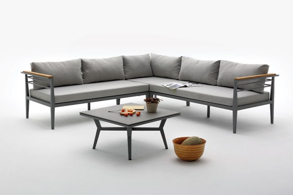 Home Roots Grey Outdoor Sectional Sofa Set OCN-283941