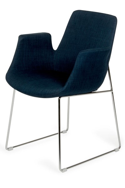 HomeRoots Blue Fabric Modern Dining Chair OCN-283961