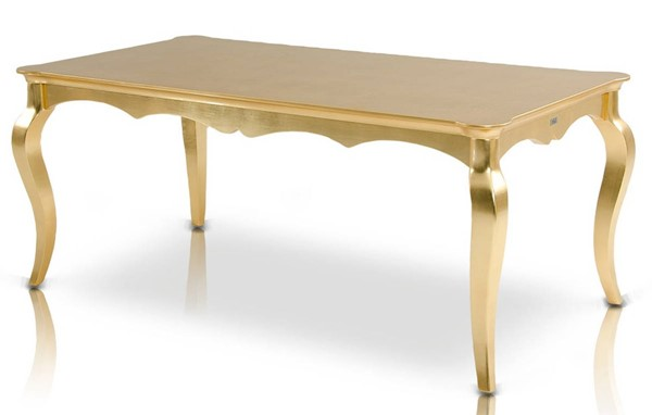 Homeroots Golden Crocodile Lacquer Dining Table OCN-284117