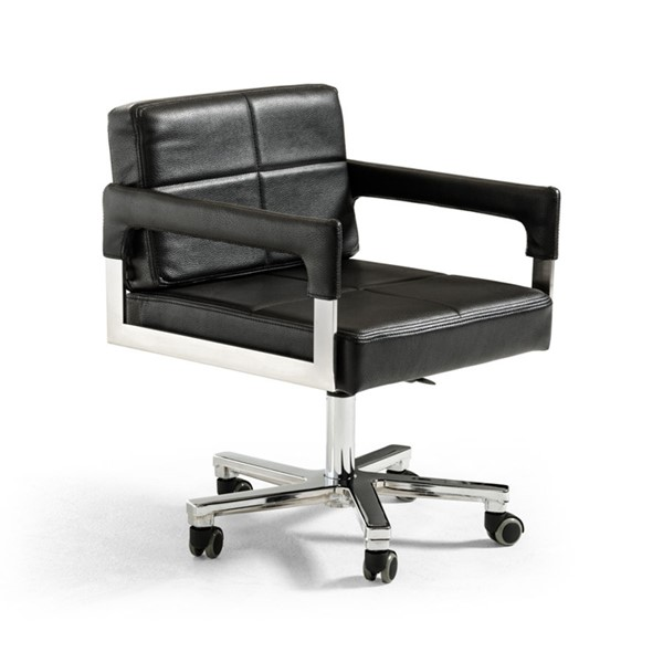 HomeRoots Modern Bonded Leather Office Chair OCN-284196-OCH-VAR