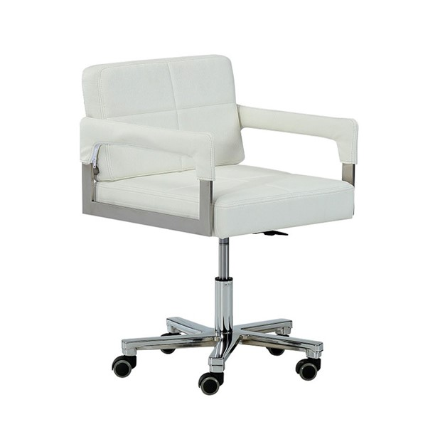 Home Roots White Modern Bonded Leather Office Chair OCN-284198
