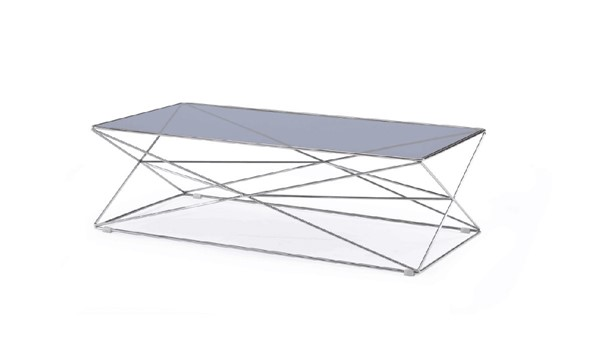 HomeRoots Contemporary Smoked Glass Coffee Table OCN-284288