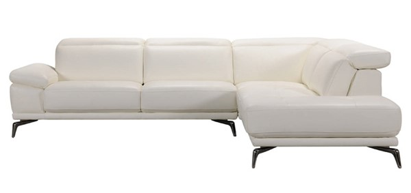 Homeroots White Leather Sectional OCN-284392