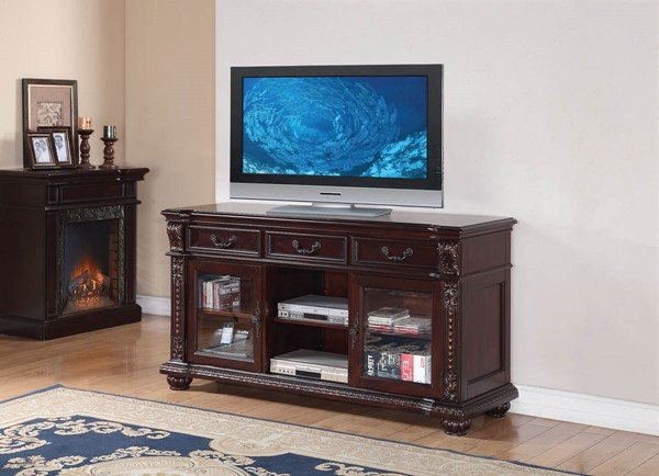 HomeRoots Anondale Cherry Wood TV Stand OCN-285213