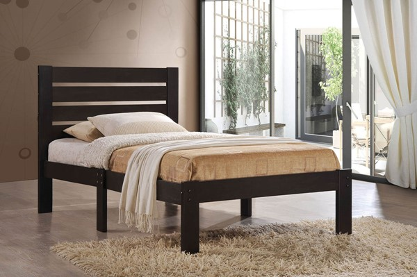 HomeRoots Kenney Espresso Full Panel Bed OCN-285240