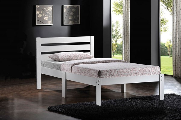 Home Roots Donato White Poplar Wood Twin Bed OCN-285246