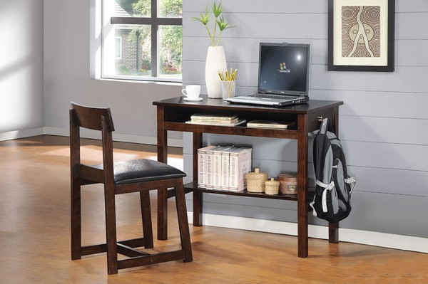 Home Roots Black Espresso 2pc Office Furniture Sets OCN-285410