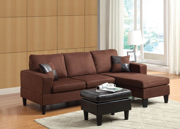Home Roots Robyn Espresso Sectional with Ottoman OCN-285529