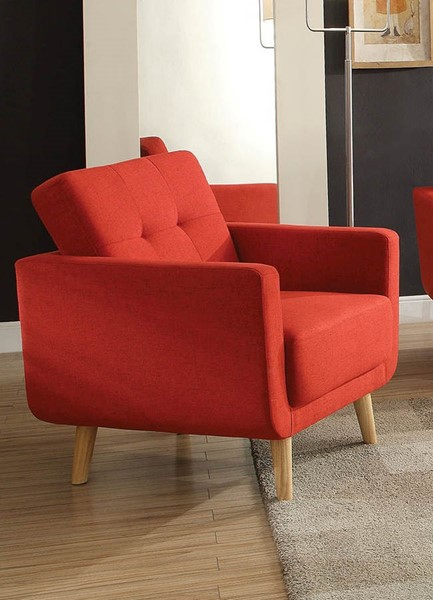 HomeRoots Sisilla Red Fabric Chair OCN-285663
