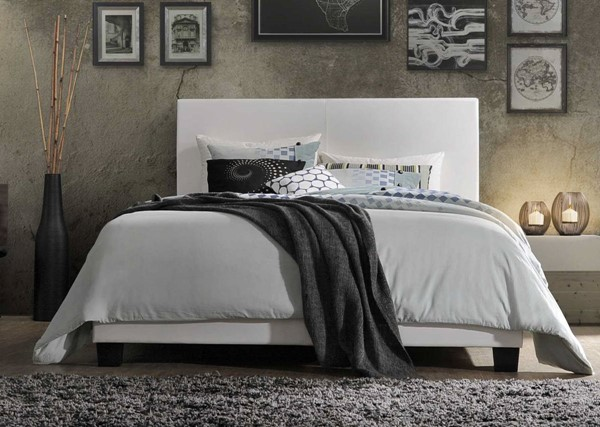 HomeRoots White PU Twin Bed OCN-285895
