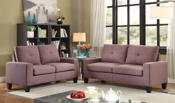 HomeRoots Chocolate Fabric Platinum Sofa and Loveseat Sets OCN-28595-S-VAR