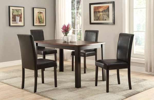 Home Roots Kylan Dark Cherry Espresso 5pc Dining Set OCN-285991