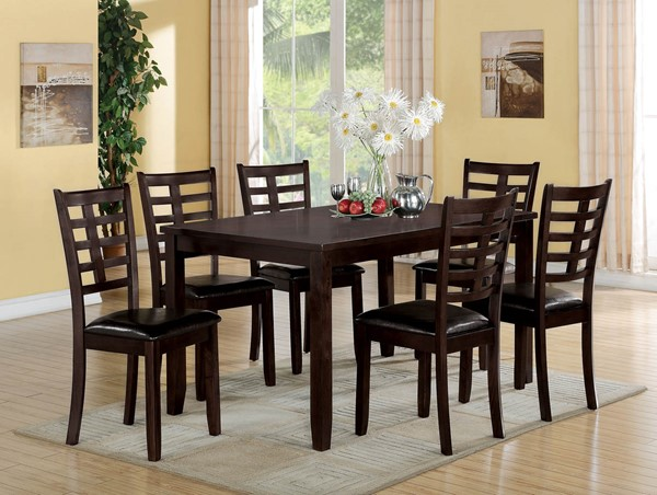 Home Roots Tahlia Espresso 7pc Dining Set OCN-285996