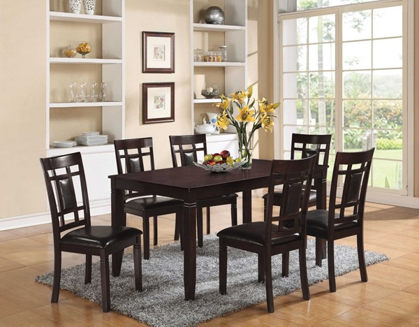 HomeRoots Sonata Espresso 7pc Pack Dining Set OCN-285997