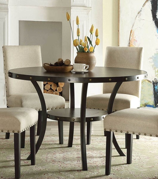 Home Roots Hadas Oak Round Dining Table OCN-286012