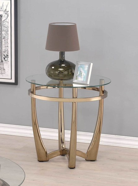 HomeRoots Orlando II Champagne End Table OCN-286054