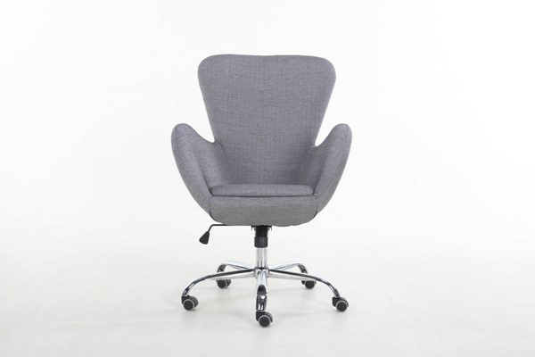 Home Roots Niklaws Black Gray Office Chair OCN-286077