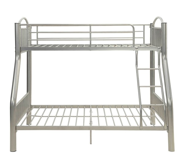 HomeRoots Cayelynn Silver Metal Twin Over Full Bunk Bed OCN-286162