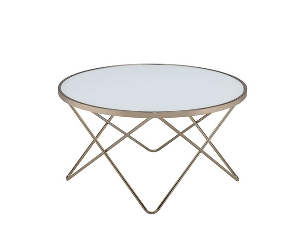 HomeRoots Valora Champagne Glass Coffee Table OCN-286256