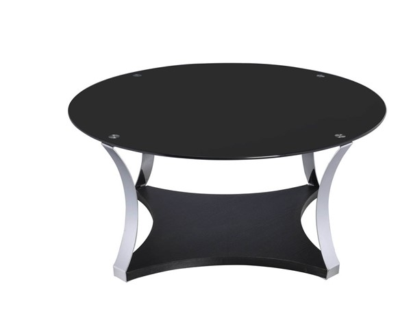 HomeRoots Geiger Black Glass Coffee Table OCN-286275