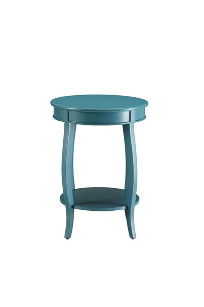 HomeRoots Alberta Teal Round Side Table OCN-286291