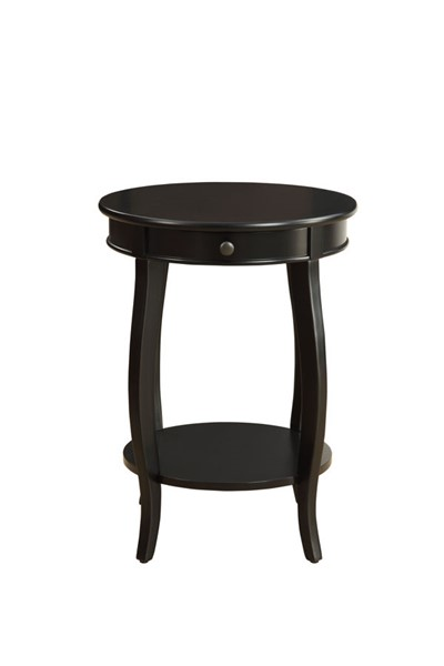 HomeRoots Alysa Transitional Black Side Table OCN-286302