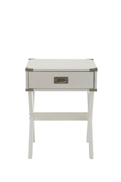 HomeRoots Babs White End Table OCN-286308