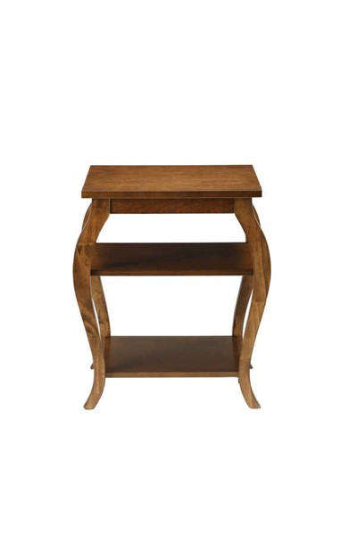 HomeRoots Becci Traditional Walnut End Table OCN-286311
