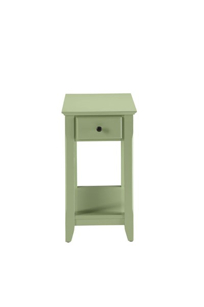 HomeRoots Bertie Light Green Side Table OCN-286316