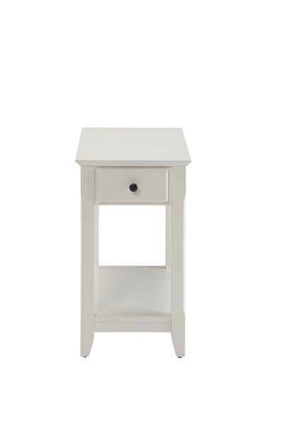 HomeRoots Bertie White Side Table OCN-286317