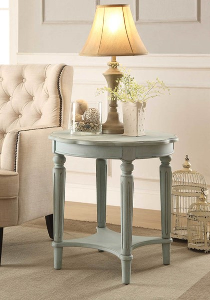 HomeRoots Fordon Antique Green Solid Wood End Table OCN-286346