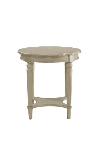 HomeRoots Fordon Antique White Solid Wood End Table OCN-286350