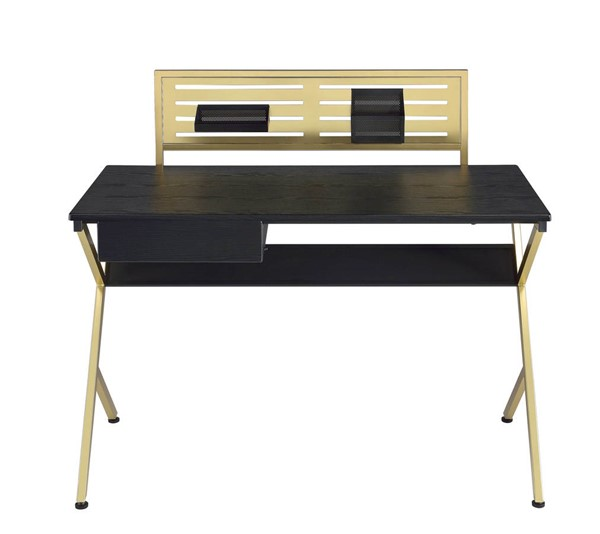 Home Roots Black Gold Rectangle Desk OCN-286394