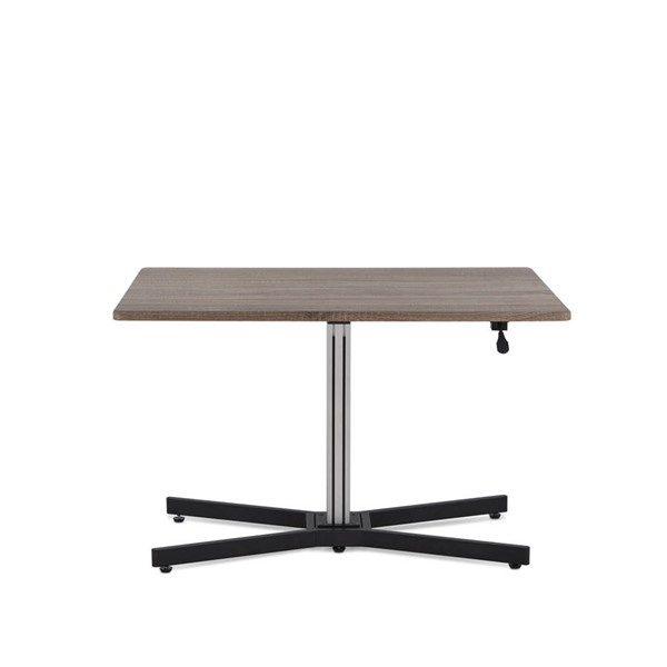 Home Roots Gray Oak Metal Rectangle Desk OCN-286401