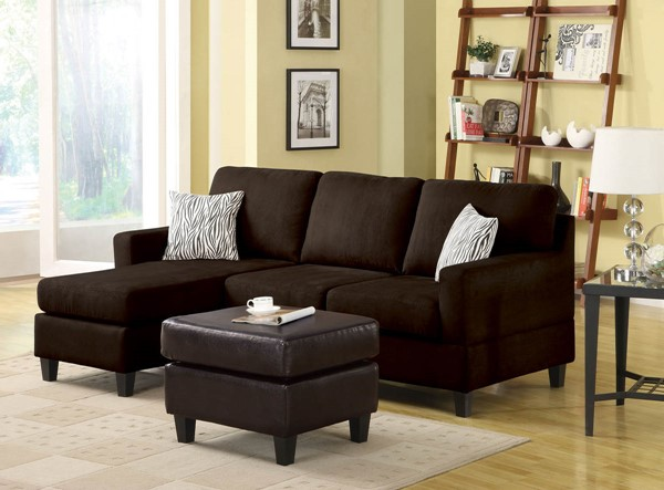 Home Roots Vogue Chocolate Sectional Sofa OCN-286496