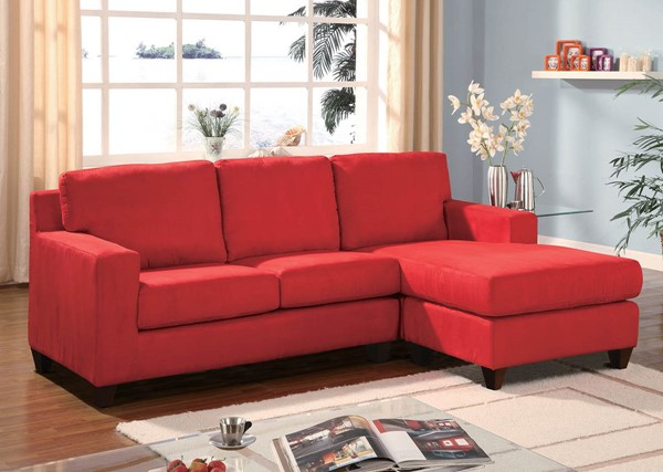 Home Roots Vogue Red Fabric Sectional Sofa OCN-286499
