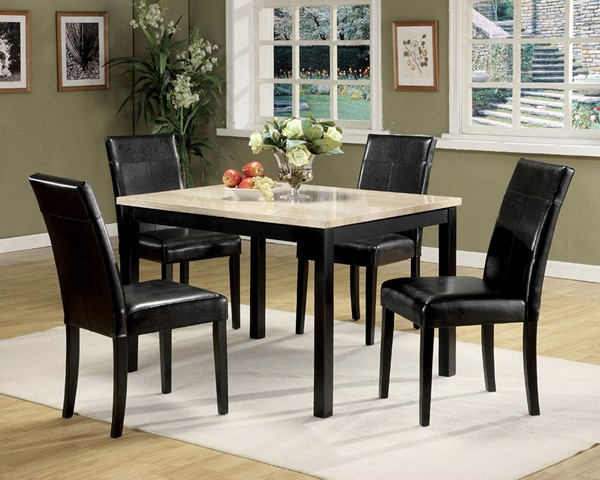 Home Roots Portland White Black 5pc Dining Set OCN-286501