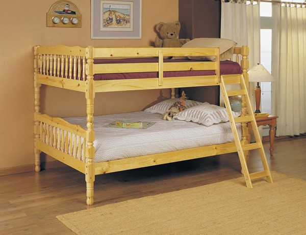 HomeRoots Natural Wood Full over Full Bunk Bed OCN-286528