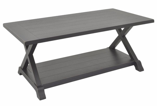 Homeroots Washed Black Wood Coffee Table OCN-291590