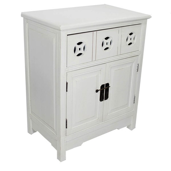 HomeRoots Asia Antique White Wood Sideboard OCN-291857