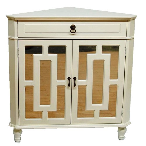 Home Roots Becker Antique White Wood Corner Cabinet - Home Roots Becker Antique White Wood Corner Cabinet The Classy Home